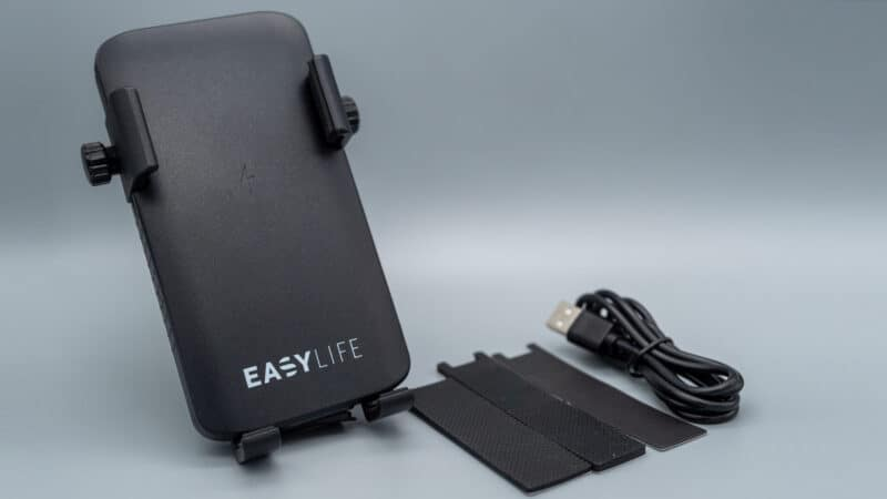 Easylife Smartphonehalterung mit Powerbank Lieferumfang