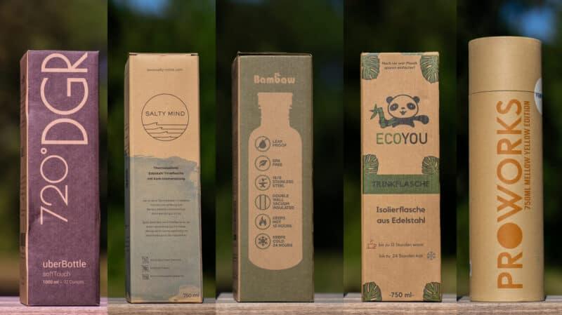 5 nachhaltige Trinkflaschen